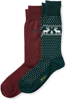 Polo Ralph Lauren Reindeer Trouser Sock 2-Pack