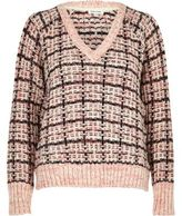 River Island Womens Pink chunky knit check sweater