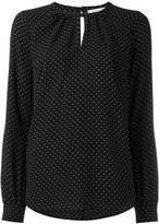 MICHAEL Michael Kors keyhole detail blouse - women - Polyester/Spandex/Elastane - XS