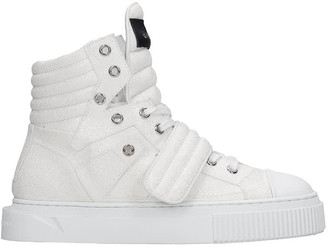 Gienchi Hypnos Sneakers In White Glitter
