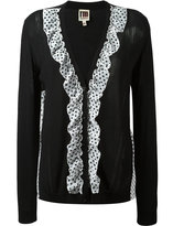 I'M Isola Marras polka dot ruffle cardigan