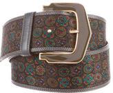 Valentino Geometric Woven Leather Belt