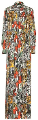 Gucci Printed silk maxi dress