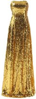 Drasawee Women Long Strapless Full Sequins Wedding Formal Evening Dress