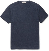 Alex Mill Slim-fit Mélange Slub Cotton-jersey T-shirt - Navy