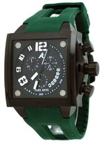 Adee Kaye #AK7115-MIPB Men's Persona Collection Polyurethane Strap Chronograph Watch