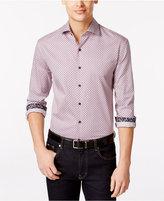 Tasso Elba Men's Foldito Diamond-Print Long-Sleeve Shirt, Only at Macy's