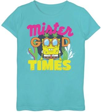 SpongeBob Squarepants Licensed Character Girls 7-16 Mister Good Times Tee