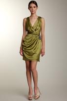 Bianca Nero V-Neck Mini Dress