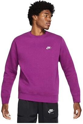 Nike NSW Club Crew (Black/White) Men's Clothing