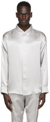 Nahmias Silver Silk Midnight Shirt