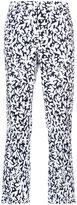 Oscar de la Renta all-over printed trousers - women - Cotton/Spandex/Elastane - 2
