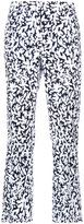 Oscar de la Renta all-over printed trousers