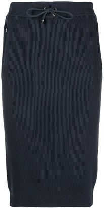 Brunello Cucinelli Ribbed Knit Pencil Skirt