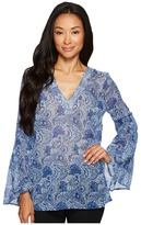 MICHAEL Michael Kors Kinley Bell Sleeve Tunic Women's Blouse