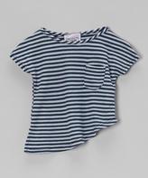 Erge Navy Harvest Stripe Asymmetrical Tee - Infant