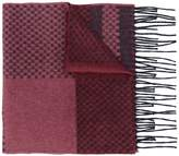 Canali intarsia fringed scarf
