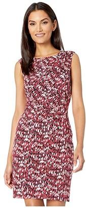 Nic+Zoe Bright Burst Twist Dress (Pink Multi) Women's Clothing