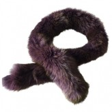Christian Dior Purple Fox Scarves