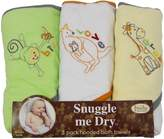 FRENCHIE MINI COUTURE Safari Animal 3-Pack Towel-Neutral