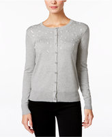 Charter Club Petite Embellished Cardigan, Only at Macy's