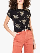 Oasis Tropical Foil Boat Neck Tee
