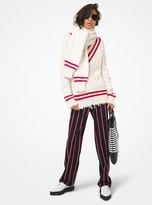 Michael Kors Hand-Knit Cashmere Frayed Tennis Sweater