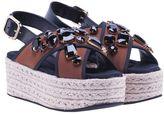 Marni Espadrille Platform Crossover Sandals From