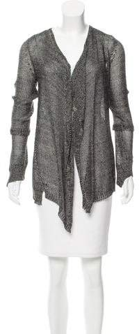 Zadig & Voltaire Metallic Open Knit Cardigan