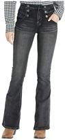 Rock and Roll Cowgirl High-Rise Flare in Charcoal WHN4145 (Charcoal) Women's Jeans