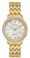 Citizen Eco-Drive Diamond-Accented Goldtone Stainless Steel Watch