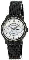 August Steiner Women's Chronograph Crystal Accented Bracelet Watch