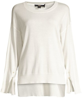 Seventy Lurex Trim Long-Sleeve Top