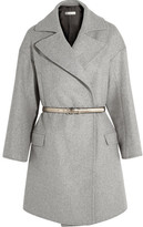 Golden Goose Deluxe Brand Belted Wool-blend Coat - Light gray