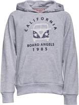 Board Angels Girls Hoody With Camper Van Print Grey Marl