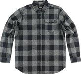 Metal Mulisha Explicit Flannel Men's Button Down Shirt Black/Gray 2XL
