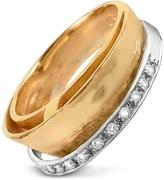Torrini Tama - Diamond Channel 18K Yellow Gold Band Ring