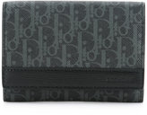 Christian Dior logo printed wallet - men - Calf Leather/Canvas - One Size