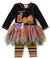 Bonnie Jean Bonnie Baby Baby Girls Newborn-24 Months Halloween Faboolous Tutu Dress & Printed Leggings Set