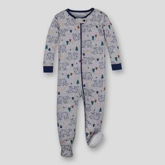 Lamaze Toddler Boys' Organic Cotton Bear Stretchy Footed Sleeper - Grey