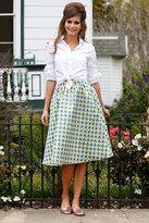 Shabby Apple Mardi Gras Skirt Green