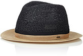 CA4LA Men's Duo Colorblocked Open-Weave Straw Fedora