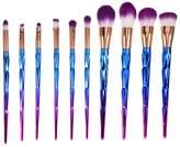 Molie 10 PCS Makeup Brush Set Professional Foundation Blush Eyeshadow Eyebrow Lip Cosmetic Brushes Loose Powder Brush