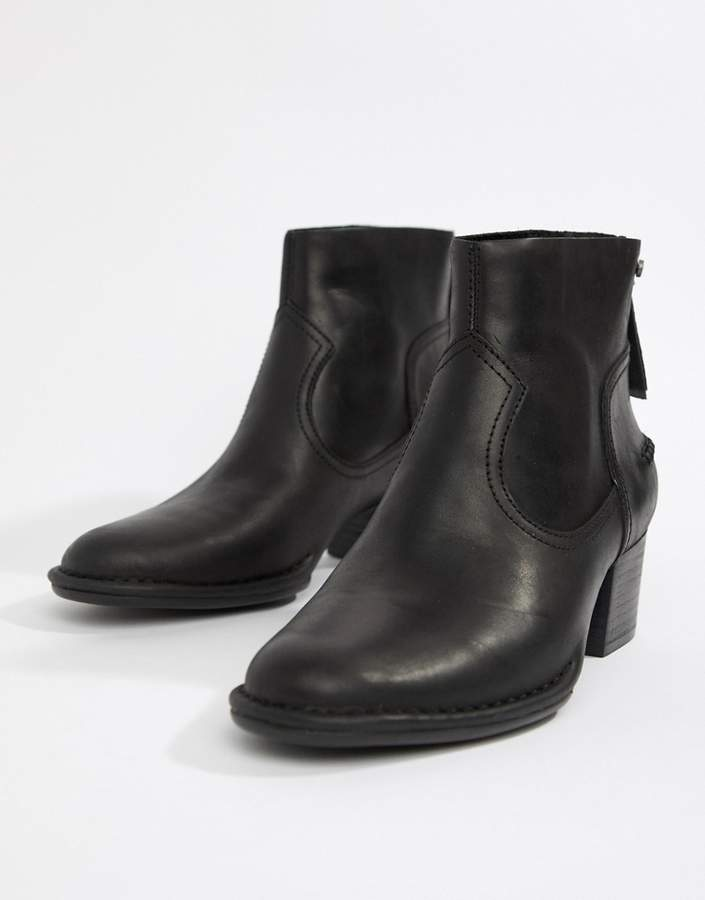 3f580a50899 Bandara Mid Heel Ankle Boot in Black