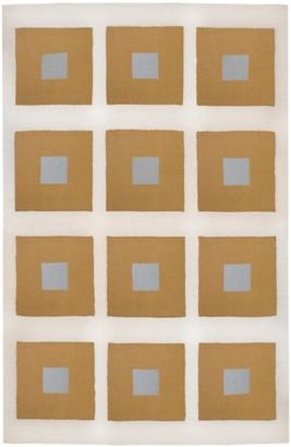 Jonathan Adler Camel/Grey Peter Reversible Peruvian Flat Weave Rug
