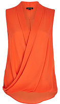 River Island Womens Bright red sleeveless wrap blouse