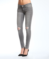 Mavi Jeans Gray Ripped Low Rise Super-Skinny Jeans - Women