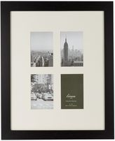 Linea Black wood 4 aperture photo frame