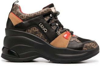 Liu Jo Monogram-Print Hiking Boots