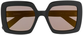 Courreges Square Oversized-Frame Sunglasses